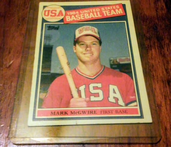 Reduced Price Mark Mcgwire 25 Bear 1998 1984 United Stares Baseball Team Card Very Good Condition Free Shipping