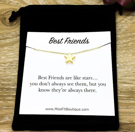 Best Friend Gift Delicate Star Dainty Necklace Tiny Star Necklace Set Minimalist Necklace JUNA Friendship Jewelry Jewelry Gift