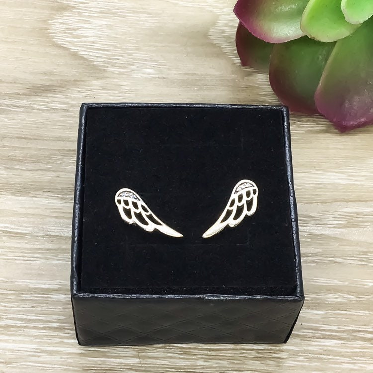 Angel Stud Earrings Angel Wings Heaven Guardian