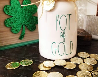 Rae Dunn Inspired Pot of Gold Decal