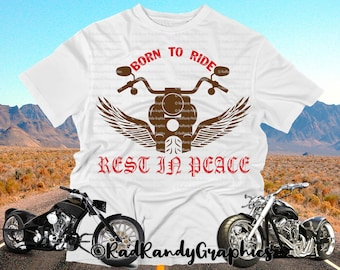 8b3a857b3 Born to Ride Motorcycle, Memorial Design Elements, Cut Files, Eps, Svg,  Png, Vector