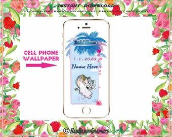 Personalized Bridal Shower Wedding Cell Phone Wallpaper Background For Screensaver