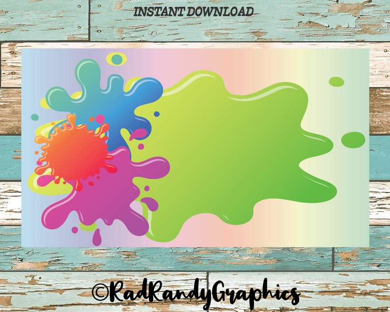 Slime Business Card Template Print And Cut File Pdf Format Etsy