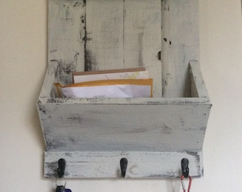 Old fashion mail holder and key hanger