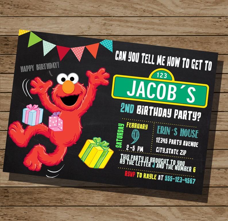 Elmo Invitation Birthday Sesame Street