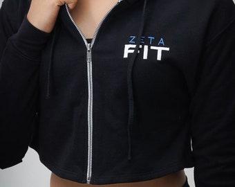 I Said My Soror Zeta cropped hoodie finer woman Zeta Phi Beta ?F? white