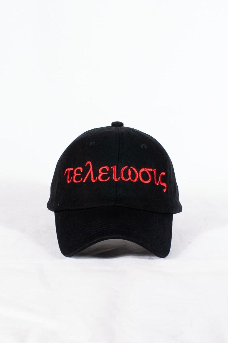 2aeca1530485e Nupes Only τελείωσις polo dad hat black cap baseball