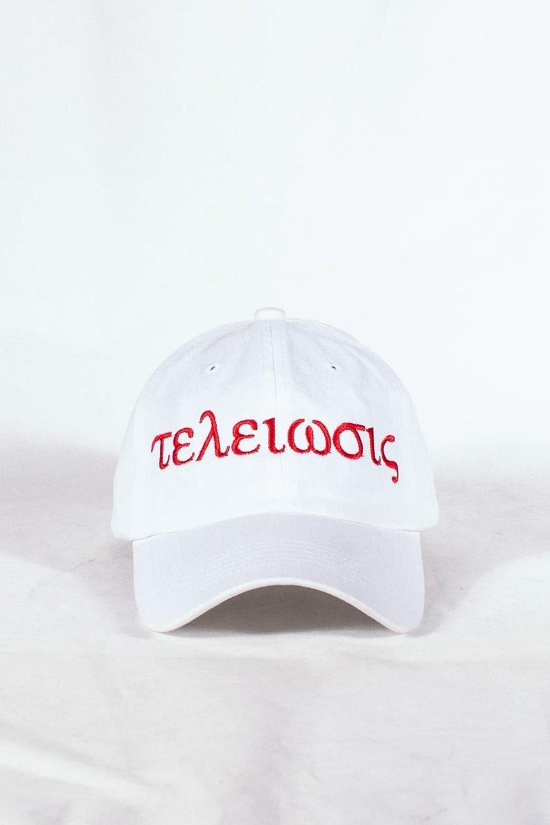 fe35d6b98d42b Nupes Only τελείωσις polo dad hat white cap baseball