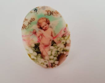 Gorgeous Large Adjustable Retro Cherub Statement Ring! - FREE GIFT WRAPPING