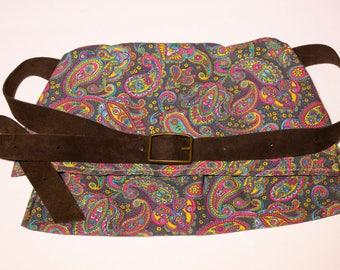 Black Paisley Hip Bag