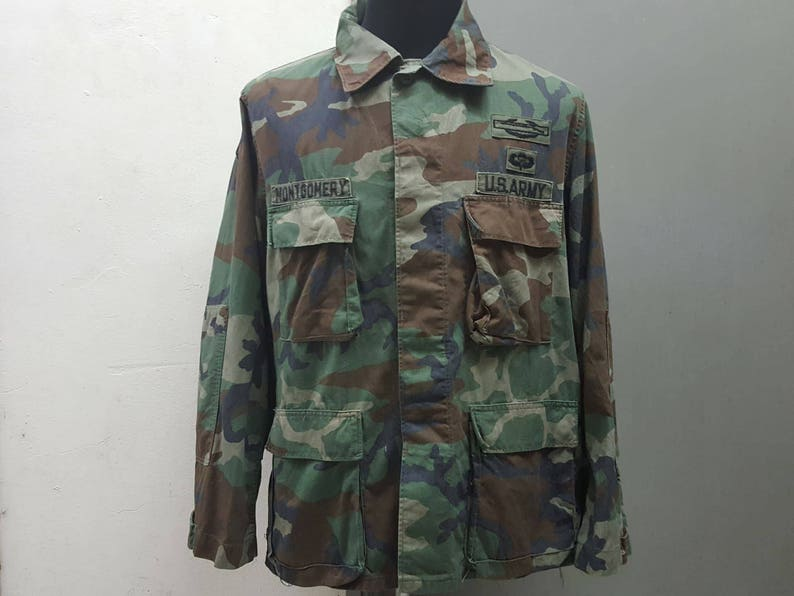 check out 978df bd82a Sales Vintage 1970s Montgomery Us Army Camouflage Parka Jacket
