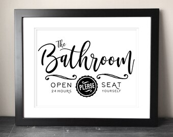 graphic about Free Printable Funny Bathroom Signs named Lavatory printable Etsy