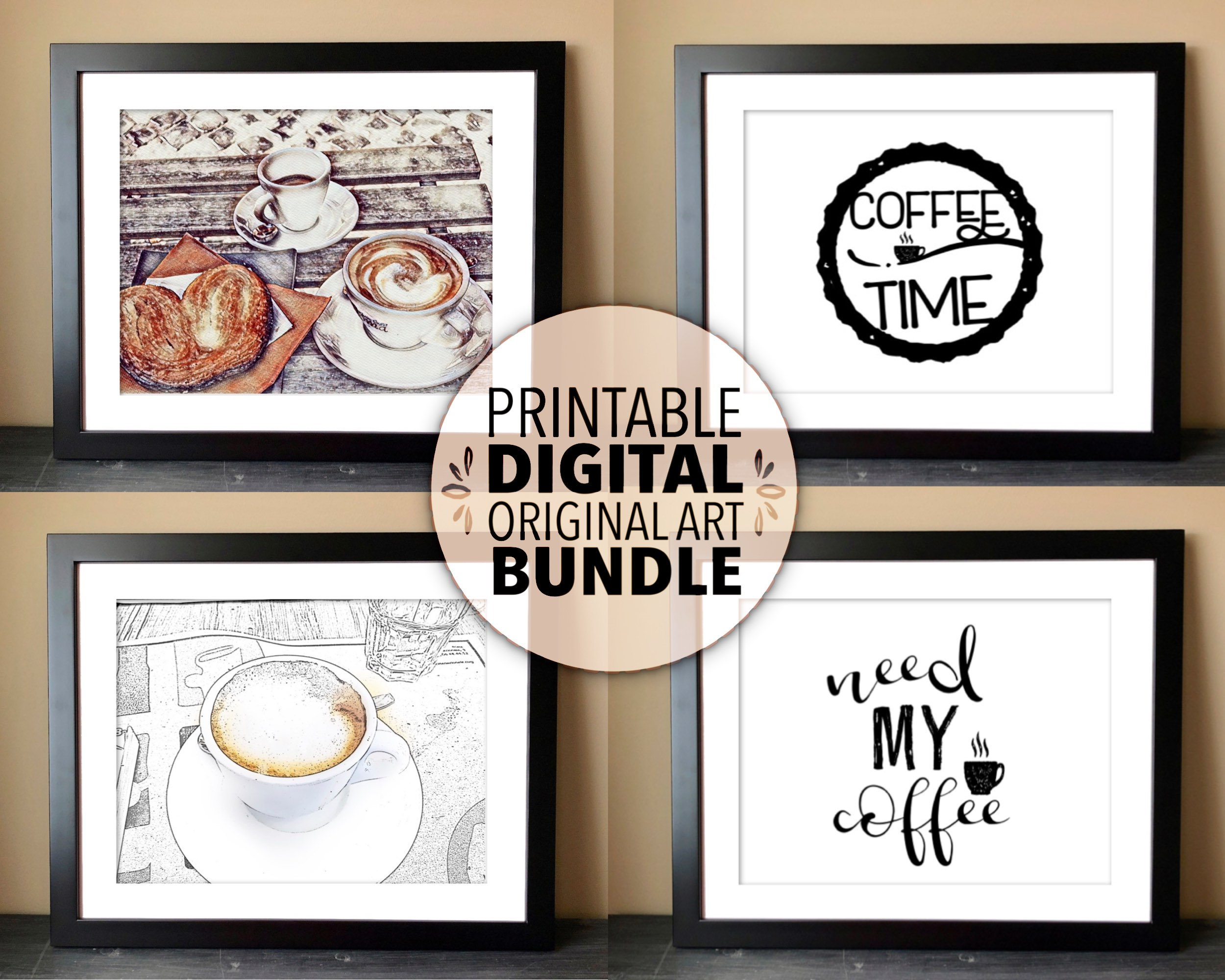 Coffee Printables Bundle Kitchen Decor Coffee Break Room Decor Coffee Decor Printable Coffee Theme Wall Art Or Coffee Svg For Projects