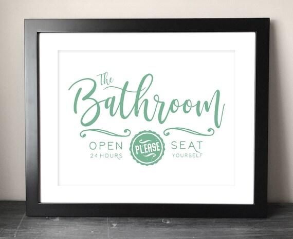Mint Green Bathroom Printable Art Funny Bathroom Digital Etsy