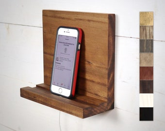 Cell Phone Stand, Wall Mount Tablet Holder, Hanging Shelf, Small Shelf for Phone, Charging Station, Phone Holder for Wall, Phone Accessories
