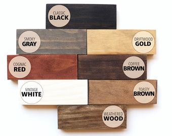 Wood Stain Color Samples, Wood Color Swatch