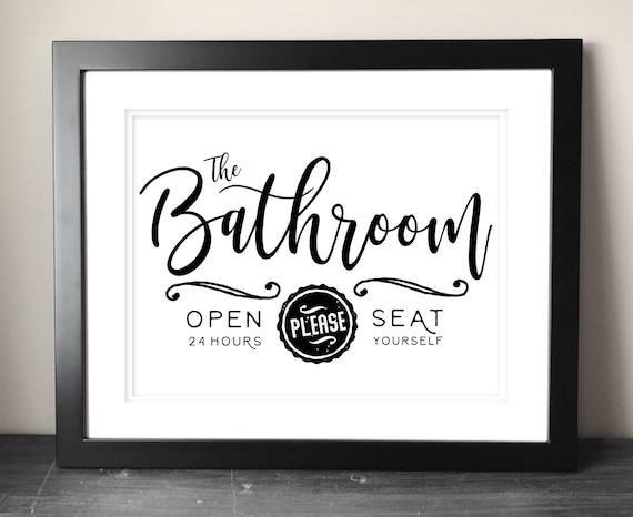 Farmhouse Bathroom Sign Printable Funny Bathroom Printable Etsy