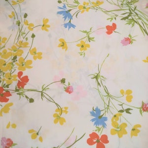 New Reversible Vintage Springmaid Jay Yang Pillowcases- Colorful Bouquets 1980s Bedding Vintage Bedding Percale Bouquet Pillowcases