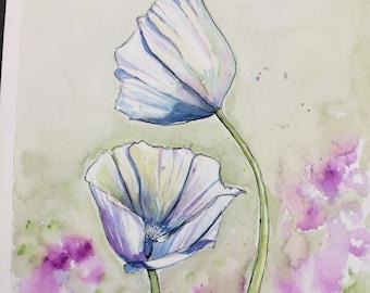 Poppies Original Watercolor