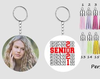 Personalized Senior 2021 Pandemic Photo Keychain