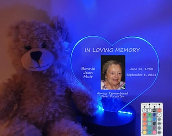 Personalized Memorial Photo led Table Light