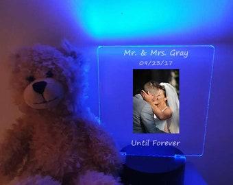 Personalized Wedding Day Photo led light