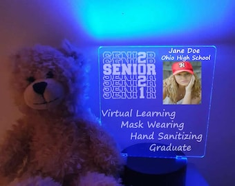 Personalized Senior 2021 Photo Square led Light