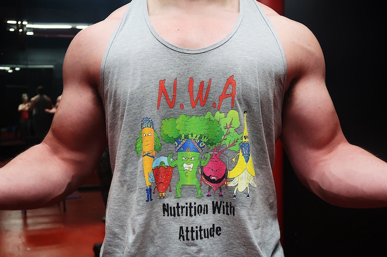 a3ae3323 NWA: Nutrition With Attitude Tank-Top / Vegan Shirt / Funny | Etsy