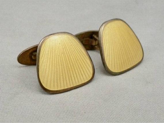 Finn jensen sterling silver enamel guilloche cuffl