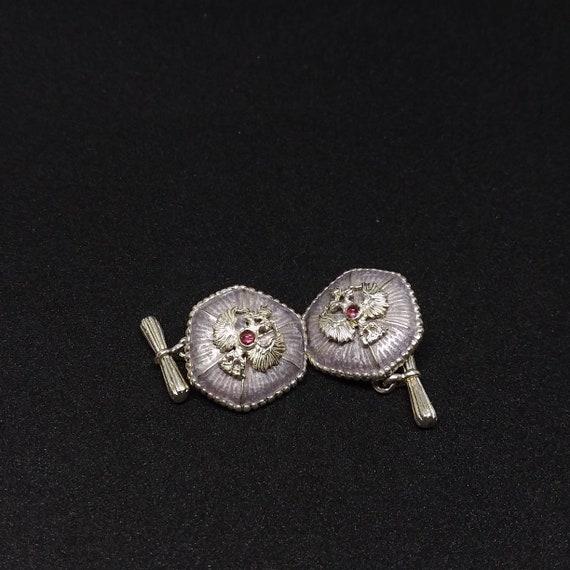 Imperial Russian enamel guilloche cufflinks