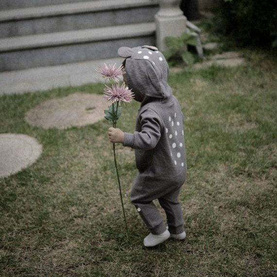 7443232d4c4 Bambi Jumpsuit Bambi Romper Baby Romper Gray