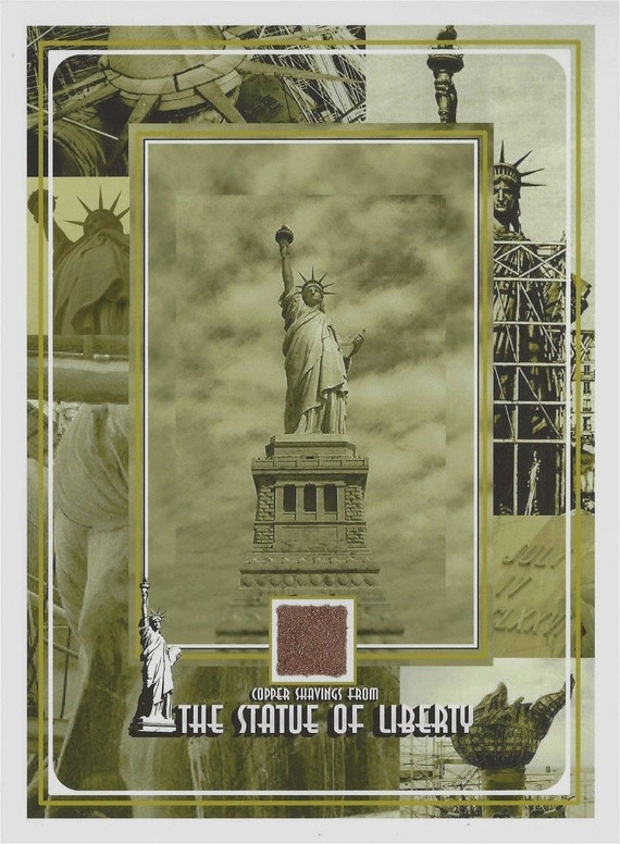 The Statue Of Liberty Actual Copper Shavings New York City Etsy