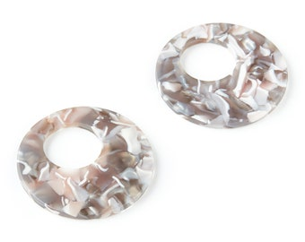 Color Code: A20-40x2.5mm Jewelry Supplies AC1032G Earring Findings Circle Earrings and Pendant Acetate Circle Charms