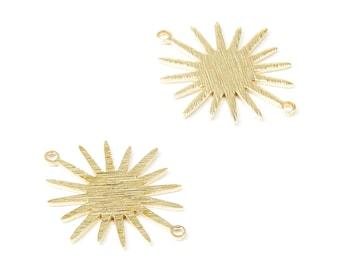 Raw brass semi-circle connector 5 geometric pendant jewelry creation 15mm lot,G2562 connectors raw brass