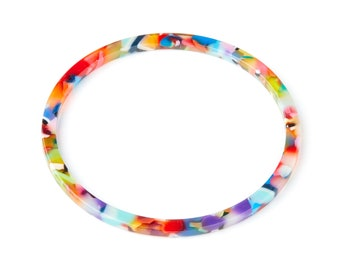 Color Code: A21-57x57x2.7mm- AC1165P Acetate Hoop Earring Charms Acrylic Circle Pendant Jewelry Supplies Earring Findings