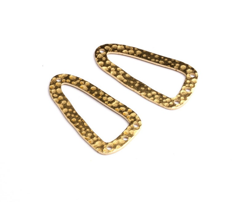 33.3x17.3x0.92mm Geometric Shaped Raw Brass Connector with 3 Holes Jewelry Supplies Brass Geometric Charms PP1351