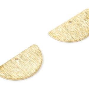 Curved raw brass 28x12mm connector charms findings earring OZ2874-155