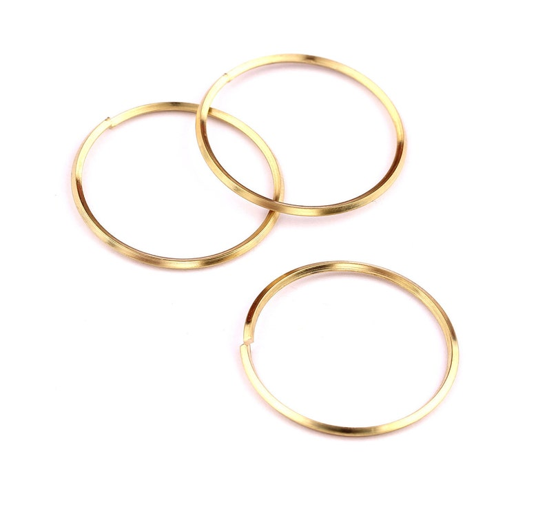 25mm Brass Open Circle Connectors Jewelry Supplies Making Jewelery PP1291 25x25x1mm Raw Brass Open Circle Connectors