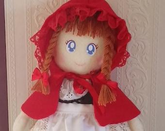 Handmade Little Red Ridinghood Doll