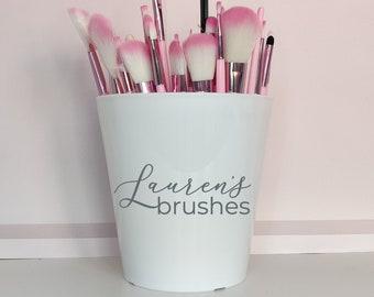 Personalised makeup brush holder - makeup storage, makeup organiser, personalised makeup