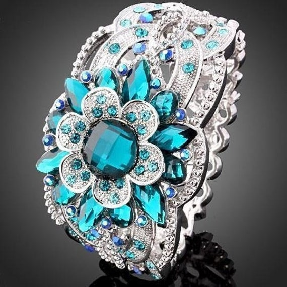 Classic Luxury 925 Sterling Silver Floral Ring Gem