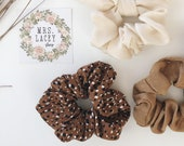 Dotted Cotton Scrunchies