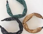 Knot Headband, Satin Headband