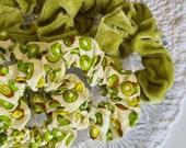 Kiwi, Velvet Scrunchies