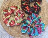 Watermelon Satin Scrunchies