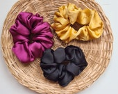 Silk Scrunchies, Bright Colours Silk Scrunchies