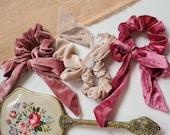 Velvet Bow Scrunchies, Bow Scrunchie