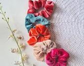 Velvet Scrunchies, Bright Colours Scrunchies