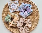 Tie Dye Scrunchies, Velvet Scrunchies