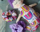 Mermaid Doll + Pattern Scrunchie to match